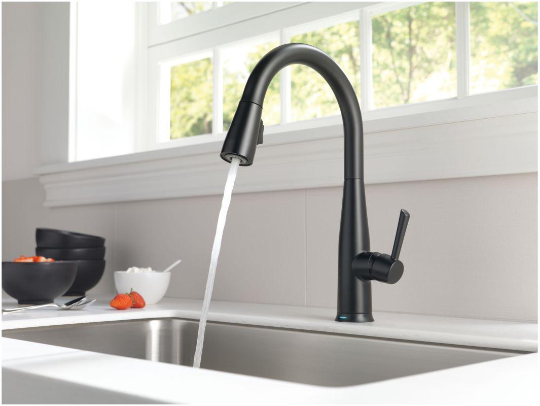 100 delta single handle kitchen faucet 100 moe