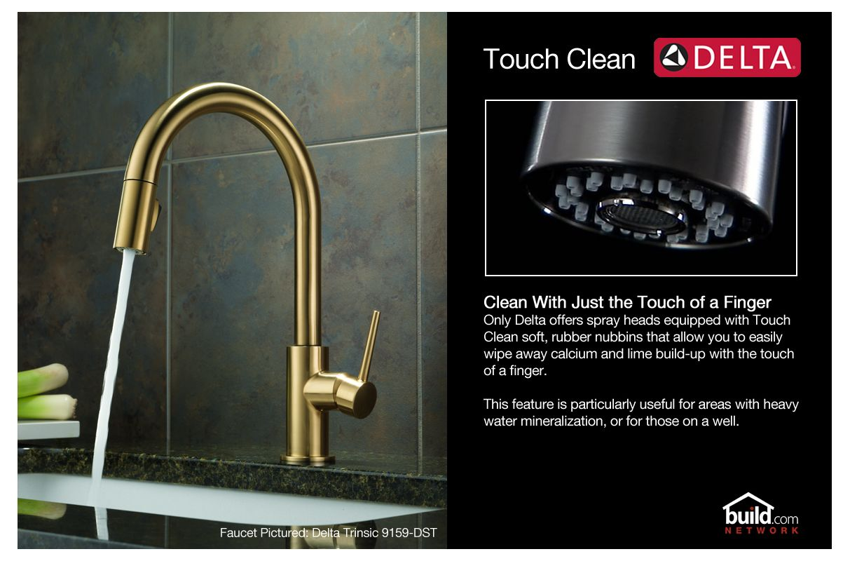 Delta Trinsic Pull Down Kitchen Faucet In Champagne Bronze Finish ...