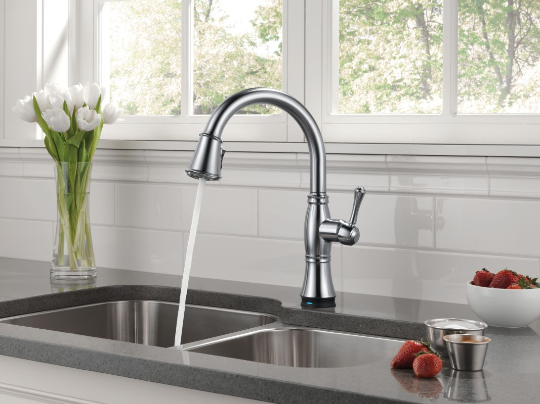 faucet com 9197t ar dst sd in arctic stainless by delta alternate