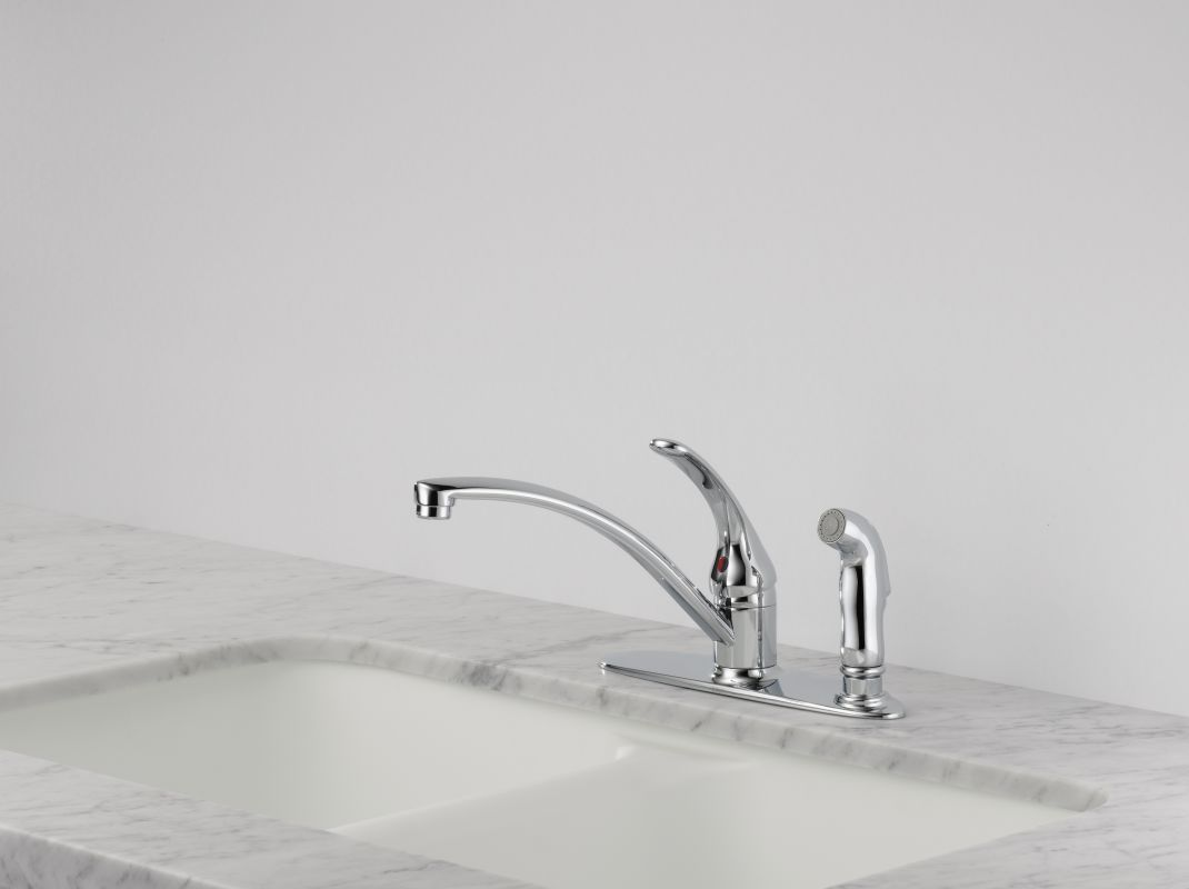 Faucet Com B3310lf Ss In Brilliance Stainless By Delta