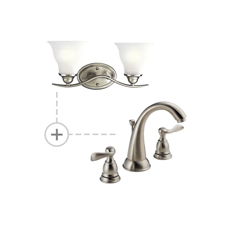 Delta Windemere Widespread Bathroom Faucet With Double Lever Handles Reviews: B3596LF.P3191-Brilliance-Stainless In Brilliance Stainless By Delta