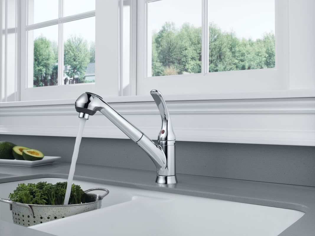 faucet com b4310lf ss in brilliance stainless by delta delta welcome change sale