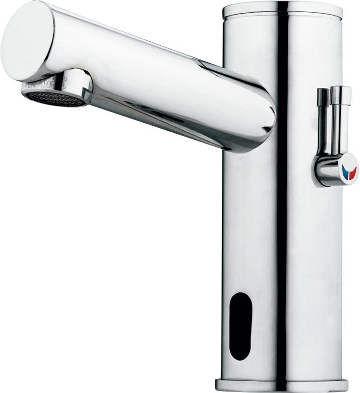 Chromed Bathroon Sink Faucet With Temperature Control: DEMD-311LF In Chrome By Delta