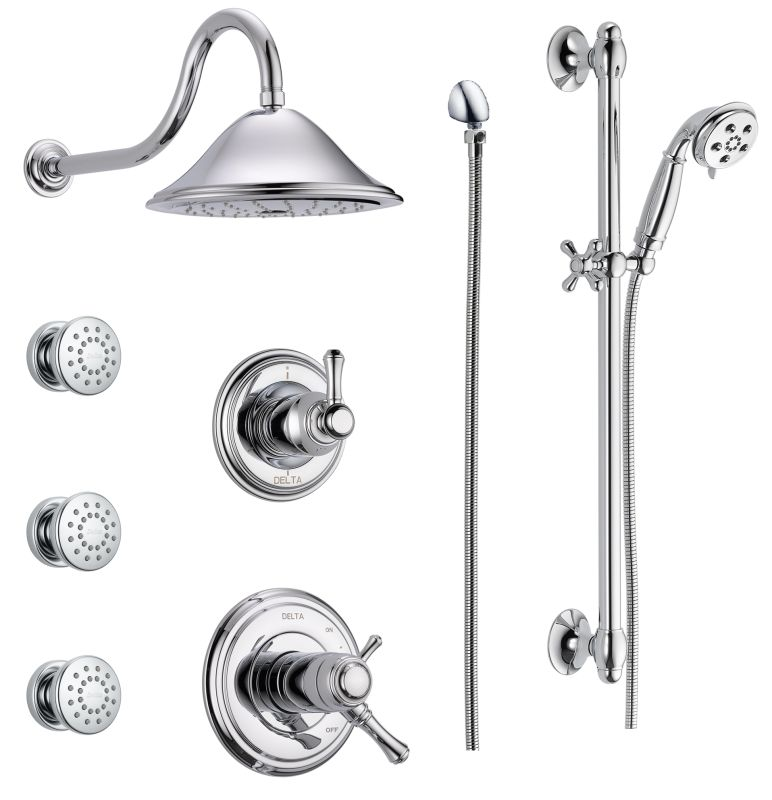 Delta Dss Cassidy 17t03 Chrome Tempassure 17t Series Thermostatic Shower System With Integrated