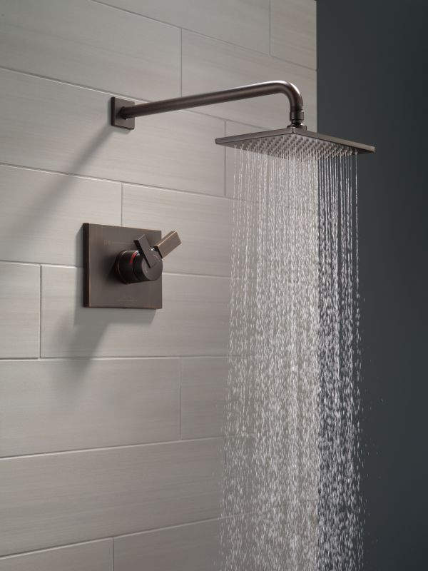 Luxury Thermostat 16 inch Shower System LCD Touch Screen Digital Display Black Large Shower Set