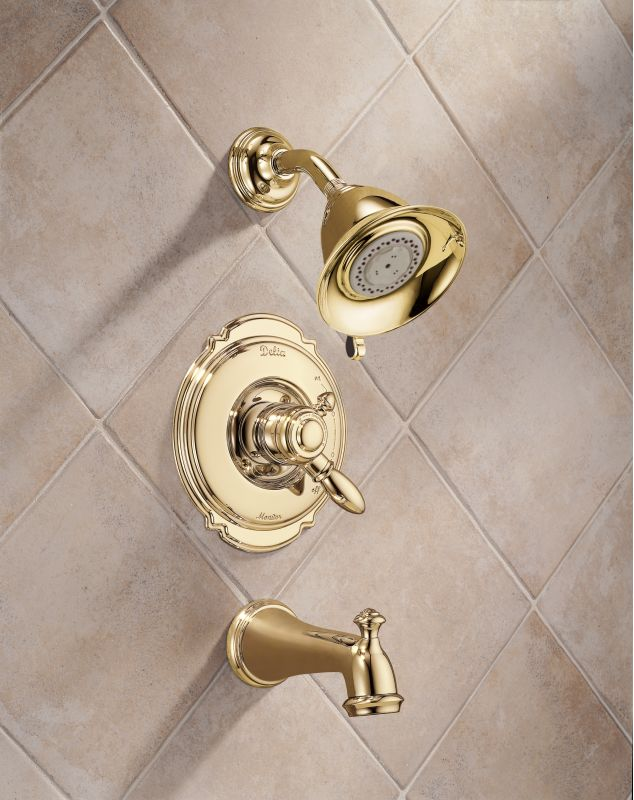 Polished Brass Bathroom Faucet: T17455-PB In Polished Brass By Delta