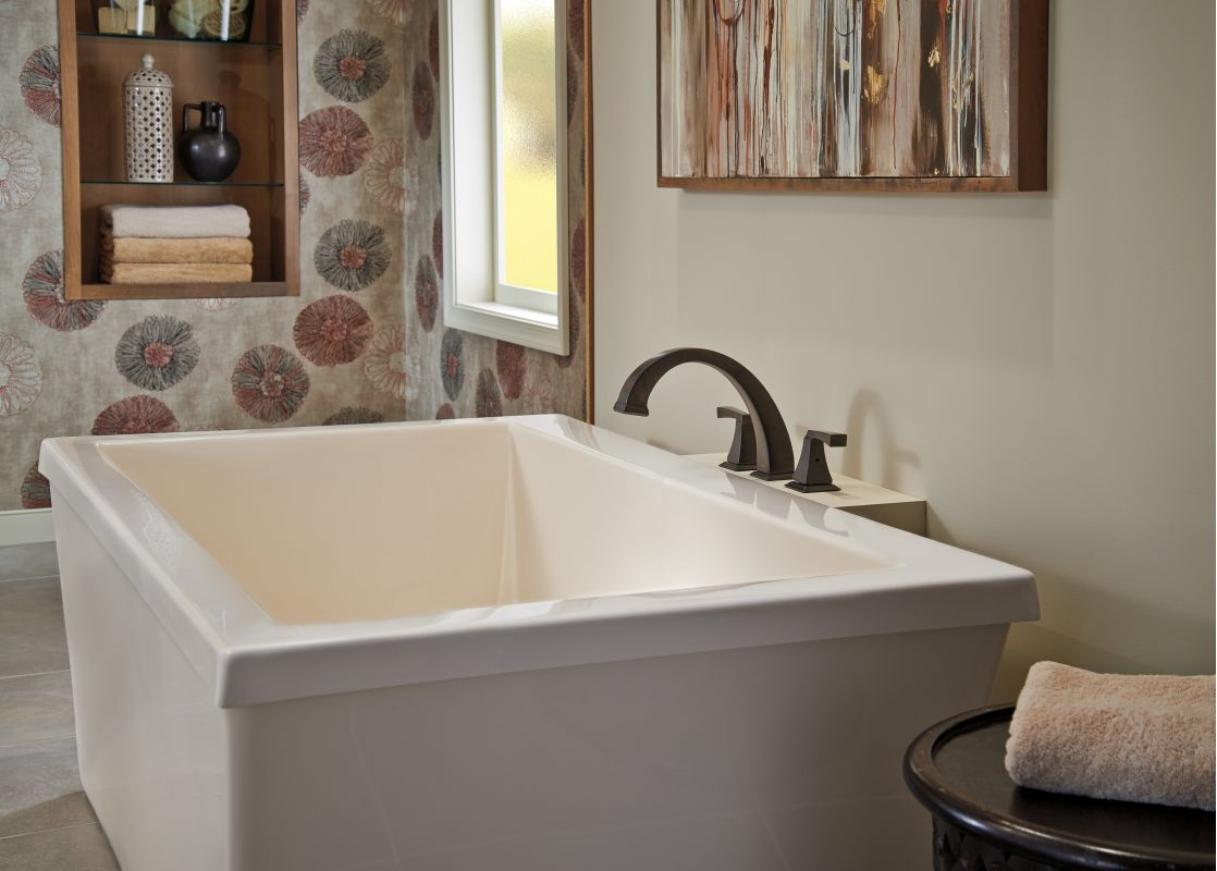 freestanding tub with faucet deck. Alternate View Faucet com  T2751 PN in Brilliance Polished Nickel by Delta