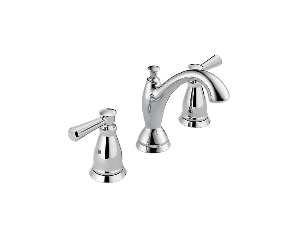 Delta 3593 Mpu Dst Chrome Linden Widespread 1 2 Gpm Bathroom Faucet With Diamond Seal Technology