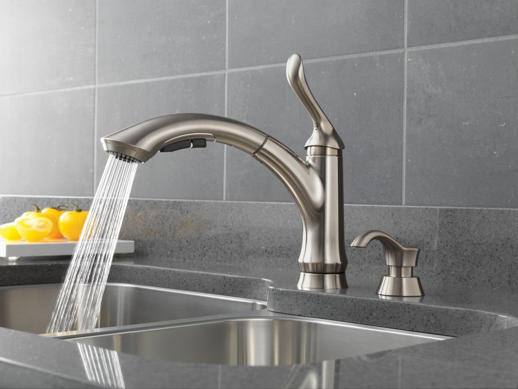 Faucet Com 4353t Ar Dst Sd In Arctic Stainless By Delta