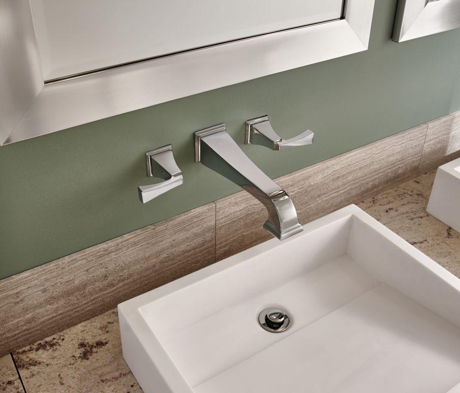 delta t3551lf rbwl venetian bronze dryden wall mounted bathroom faucet