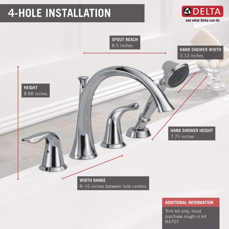 lahara roman tub faucet. Alternate View Faucet com  T4738 SS in Brilliance Stainless by Delta