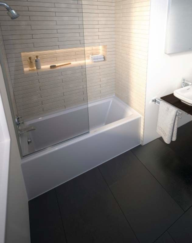 acrylic soaking tub 60 x 30. alternate view; view acrylic soaking tub 60 x 30