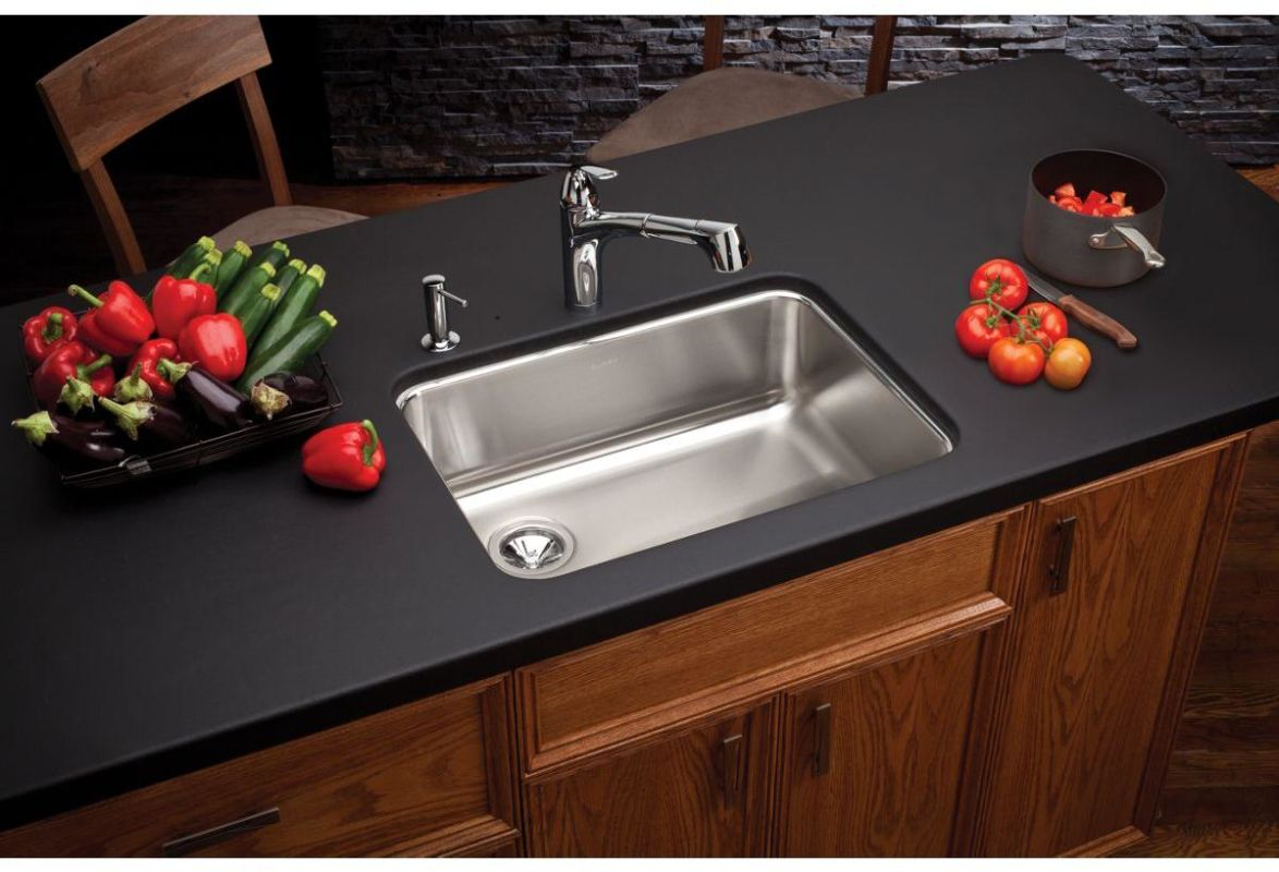 Faucet.com   ELUH2317 in Stainless Steel Center Drain by Elkay