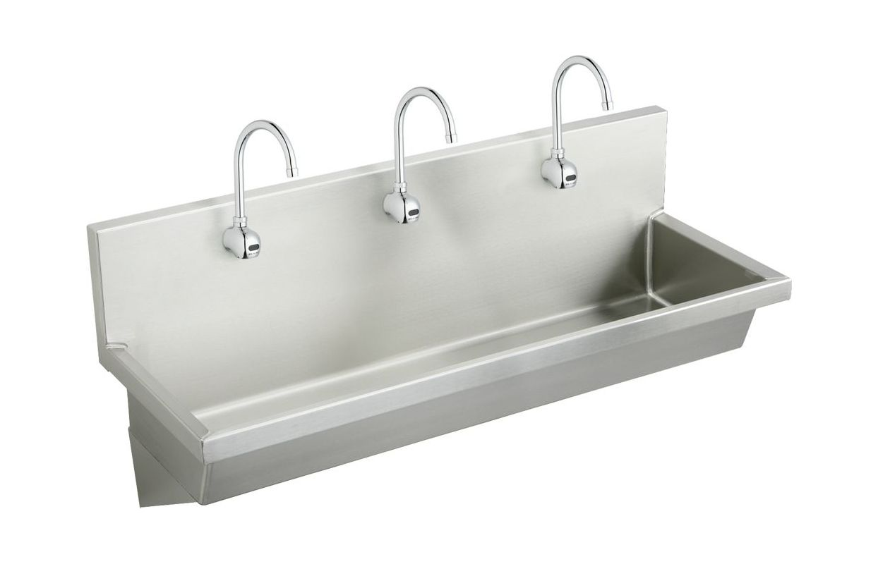 Faucet Com Ewma7220sacmc In Stainless Steel By Elkay