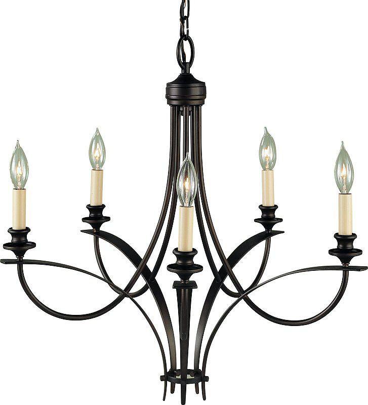 feiss f1888  5orb oil rubbed bronze boulevard 5 light