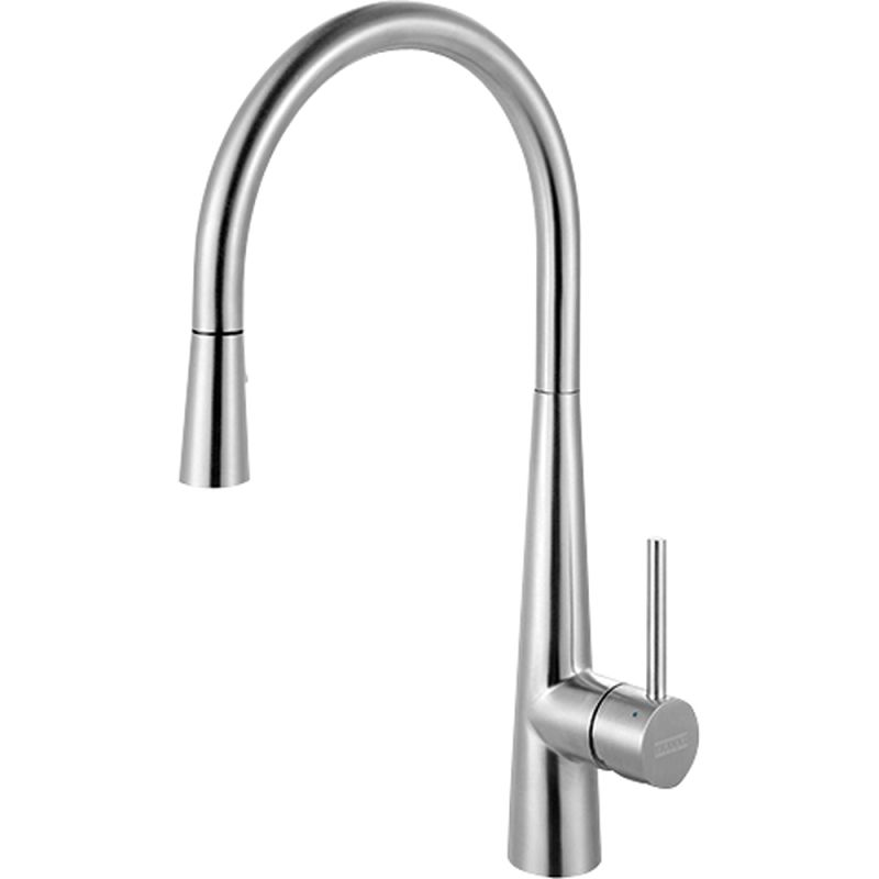 Franke Kitchen Faucet: Franke FF3450 Stainless Steel High-Arch Gooseneck Single