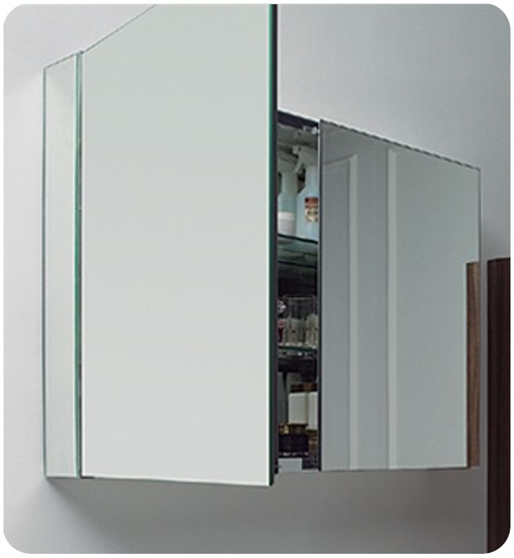 fresca fmc8010 mirror 40 double door frameless medicine cabinet with