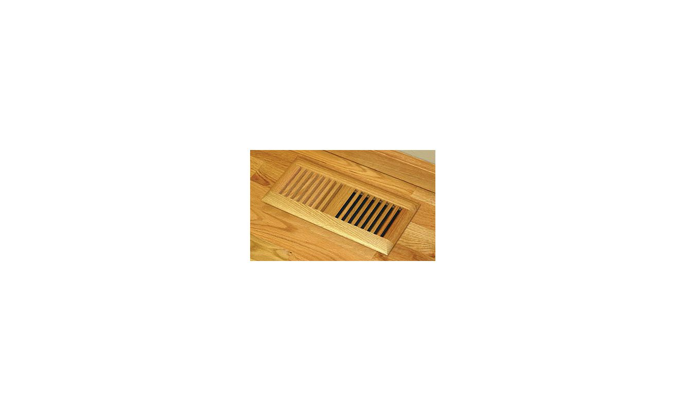 Grillworks trimline in 4x10 ro red oak 4 x 10 wood floor for 10 x 10 floor register