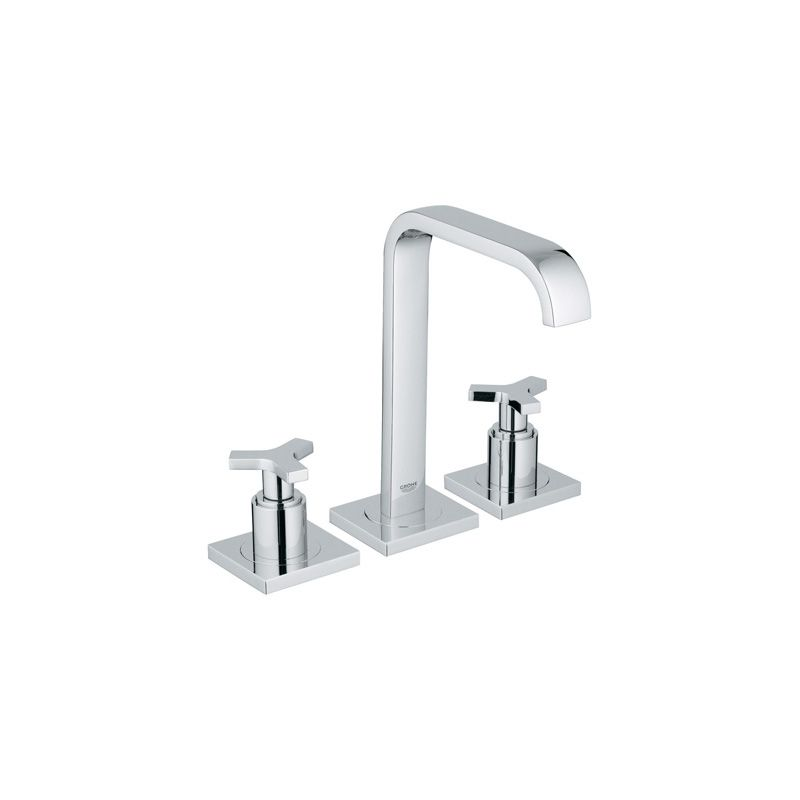 Grohe Allure Bathroom Faucet: 20148000 In Starlight Chrome By Grohe