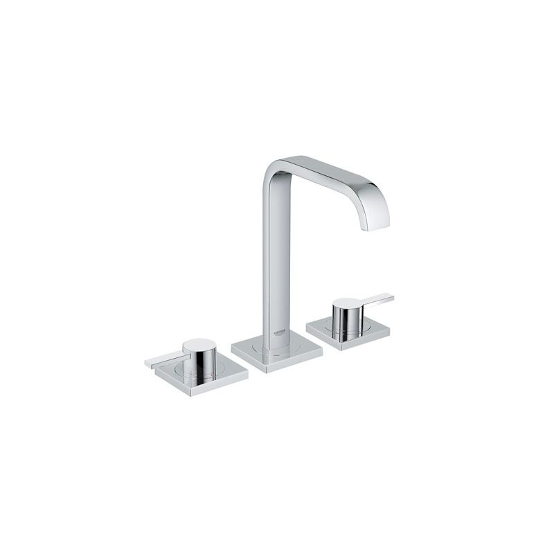 Grohe Allure Bathroom Faucet: Grohe 20191000 Starlight Chrome Allure Widespread Bathroom