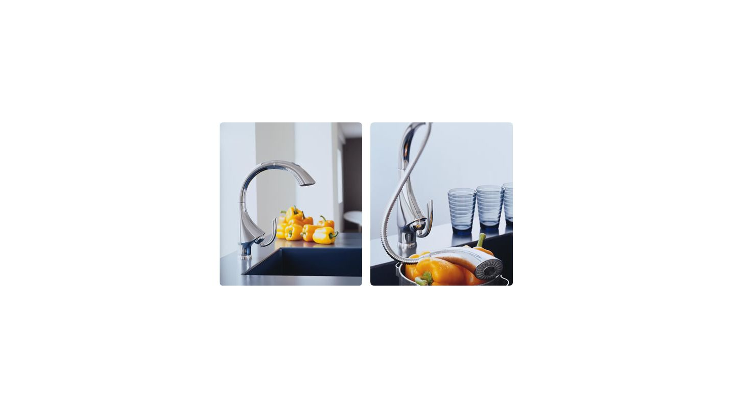 Grohe K4 Kitchen Faucet Faucetcom 32071sd0 In Stainless Steel By Grohe