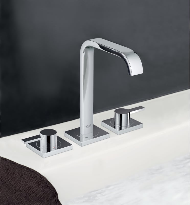 Grohe Allure Bathroom Faucet: 20191000 In Starlight Chrome By Grohe