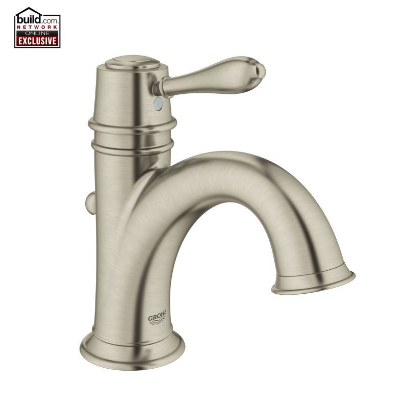 grohe bathroom sink faucets grohe 23399en1 brushed nickel fairborn 1 2 gpm single 18628