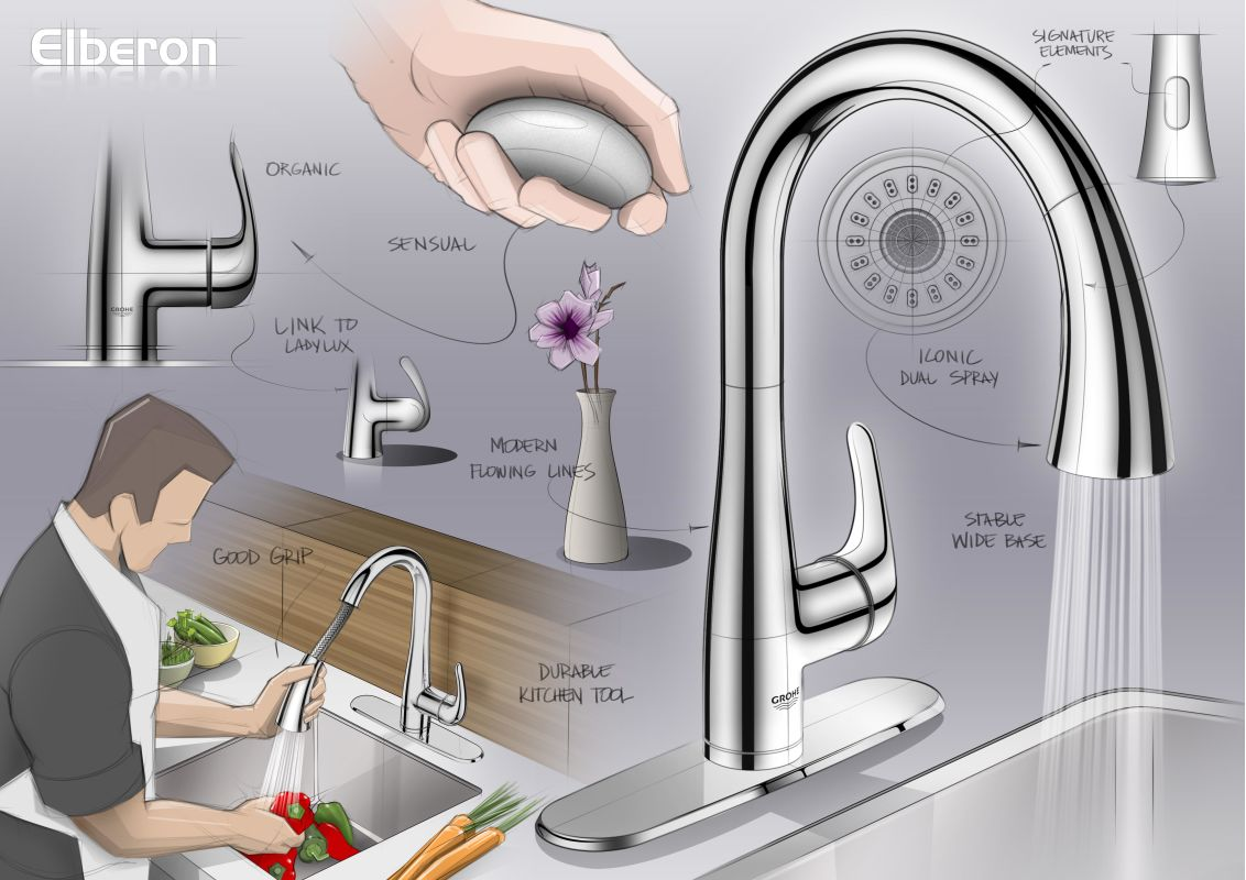 faucet com 30211dc0 in supersteel by grohe
