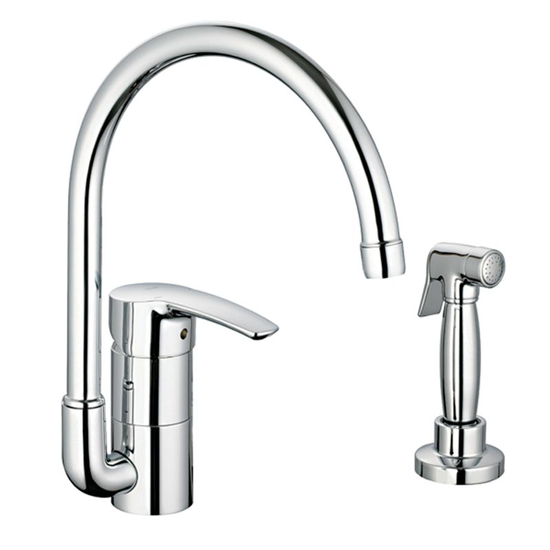 kitchen faucet side spray faucet 33980en1 in brushed nickel by grohe 19526
