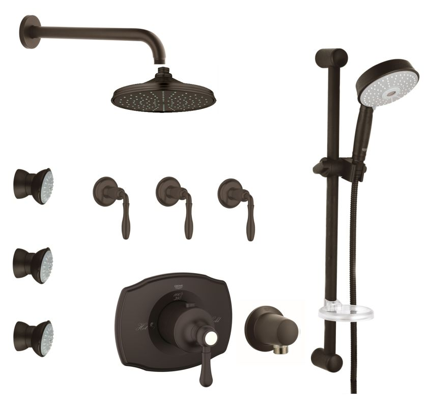 Faucet Com Gss Authentic Cth 08 Zb0 In Oil Rubbed Bronze By Grohe