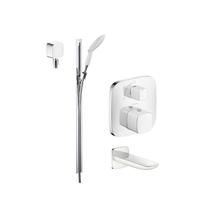 Hansgrohe chrome puravida tub and shower valve trim with for Hansgrohe puravida