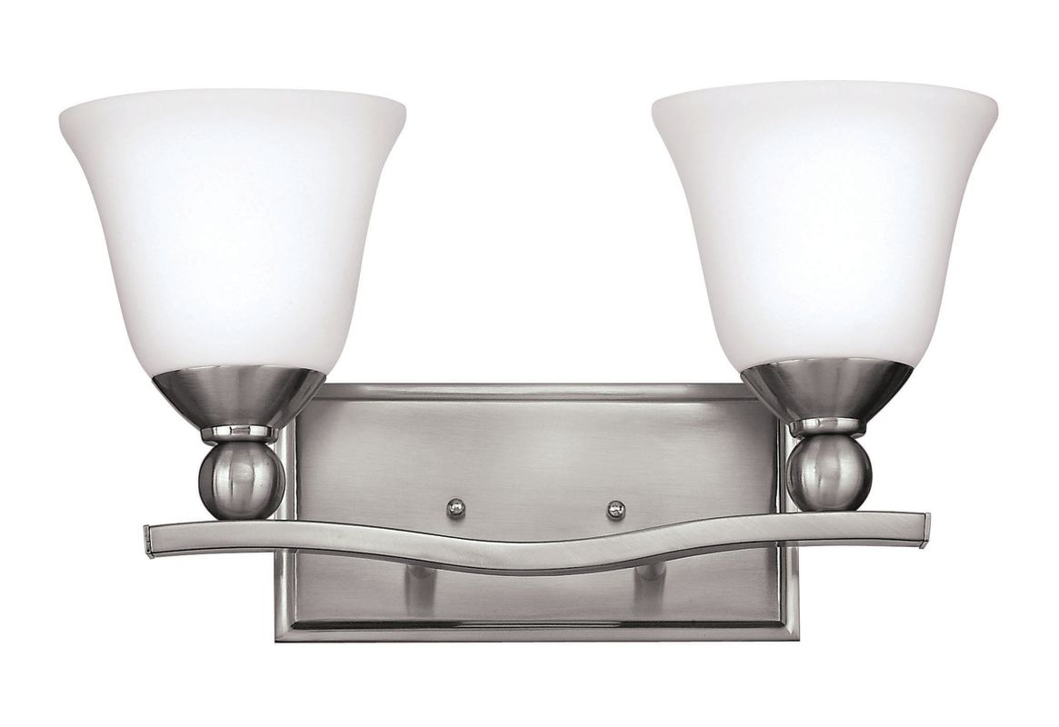 Hampton Bay 2 Light Chrome Bath Light 05659: Hinkley Lighting 5892BN-GU24 Brushed Nickel 2 Light Title