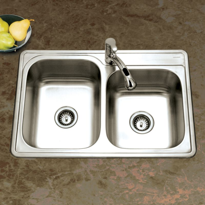 Faucet.com | ISL-3322BS3-1 in 3 Faucet Holes by Houzer