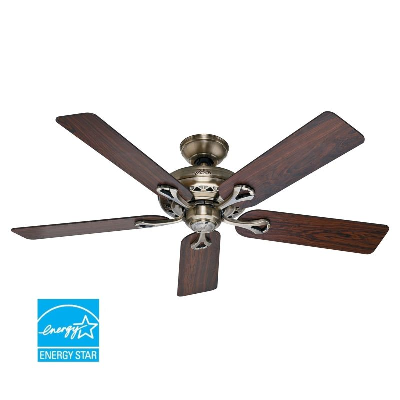 Hunter 53105 Antique Brass 52 Quot Energy Star Rated Indoor
