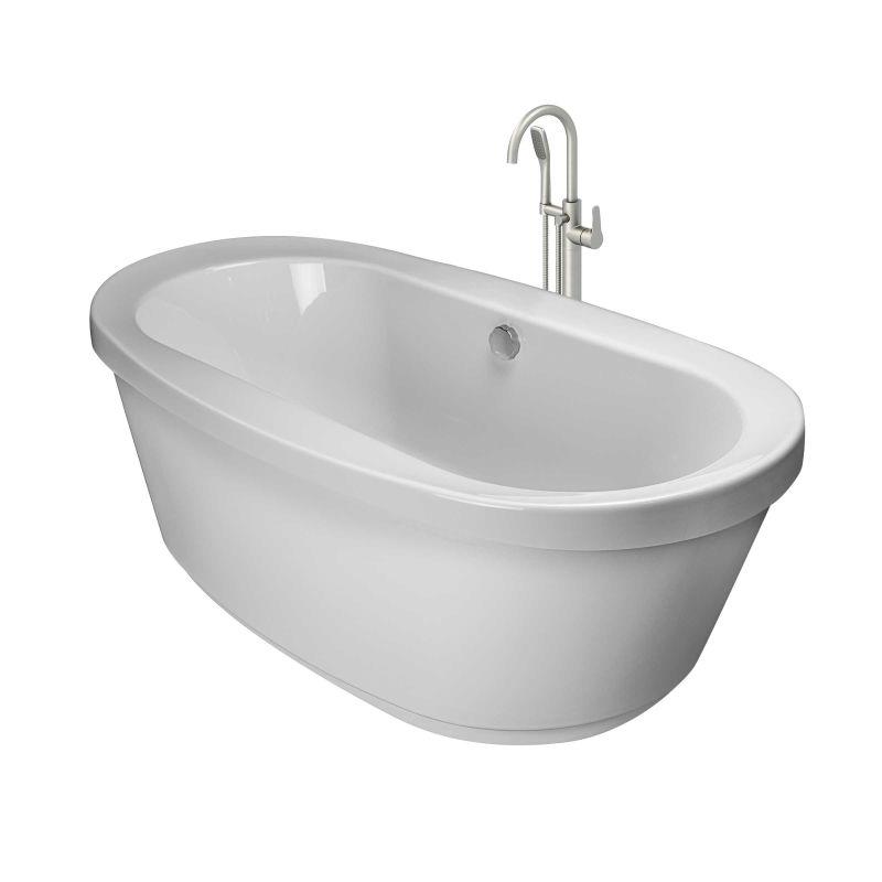 Jacuzzi Inn6636bcxxxxw White Brushed Nickel Tub Filler Inizio 66 Free Standing Soaking
