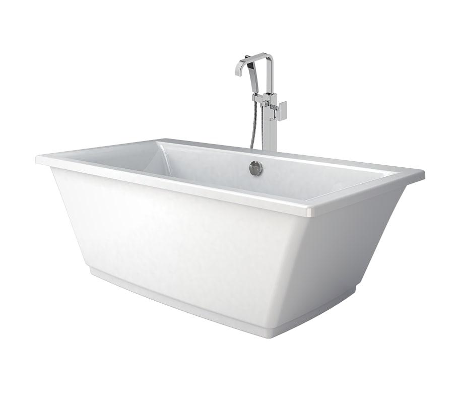 Heb6232bcxxxxw In White Chrome Tub Filler By Jacuzzi