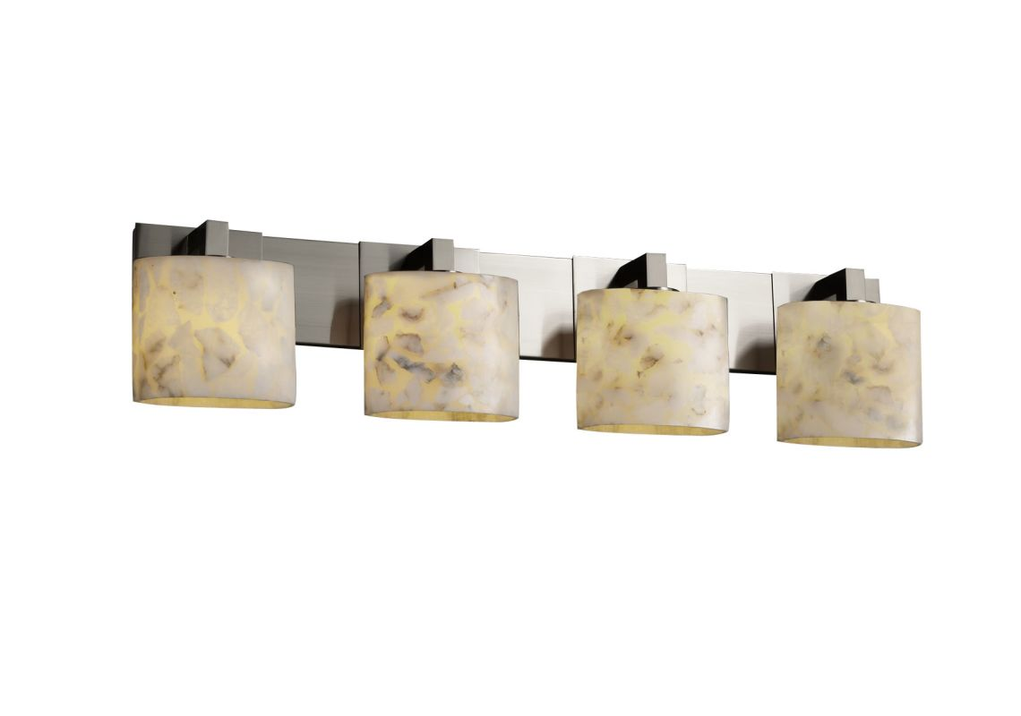 Shop Portfolio Paces 4 Light Brushed Nickel Cone Vanity: Justice Design Group ALR-8924-30-NCKL Brushed Nickel