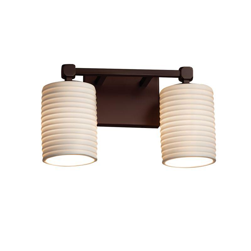 justice design group por 8422 10 sawt dbrz dark bronze. Black Bedroom Furniture Sets. Home Design Ideas