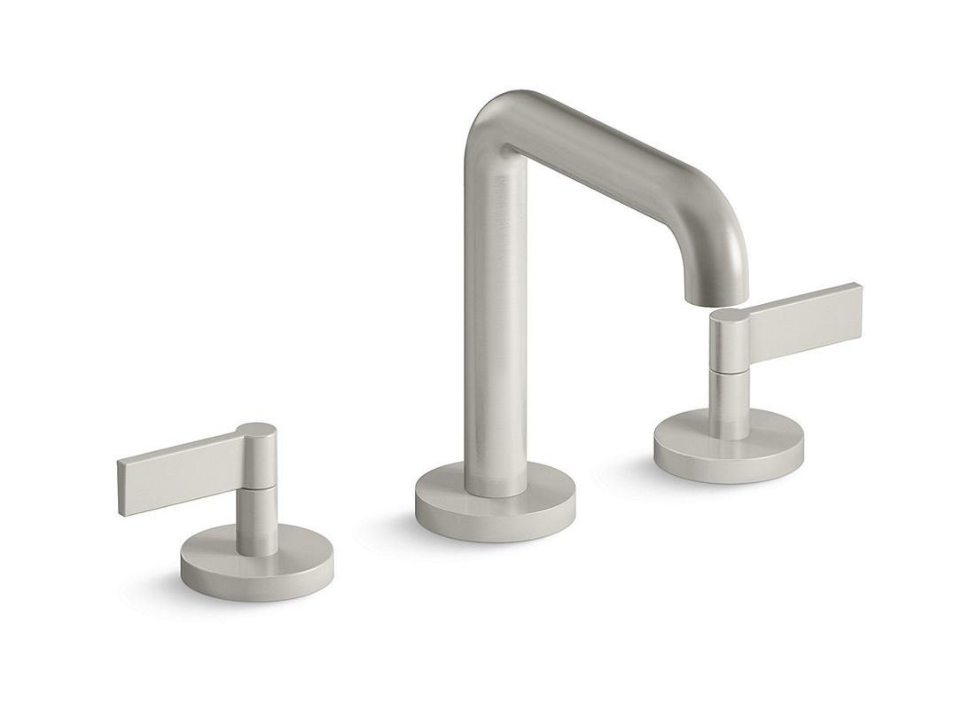 P24492 lv ag in brushed nickel by kallista for Kallista bathroom faucets