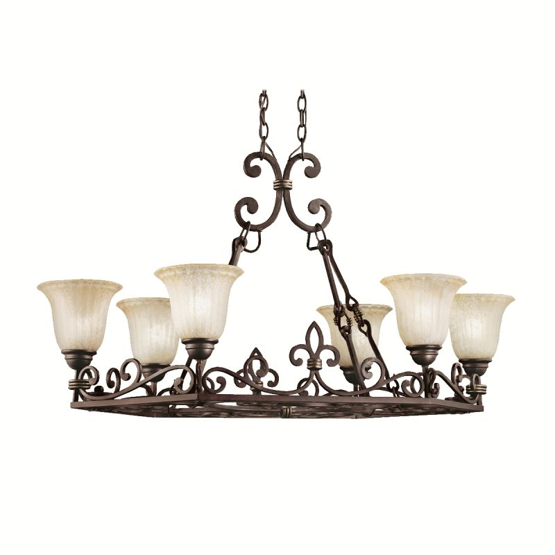 kichler kitchen lighting kichler 2090cz carre bronze wilton single tier chandelier 2090