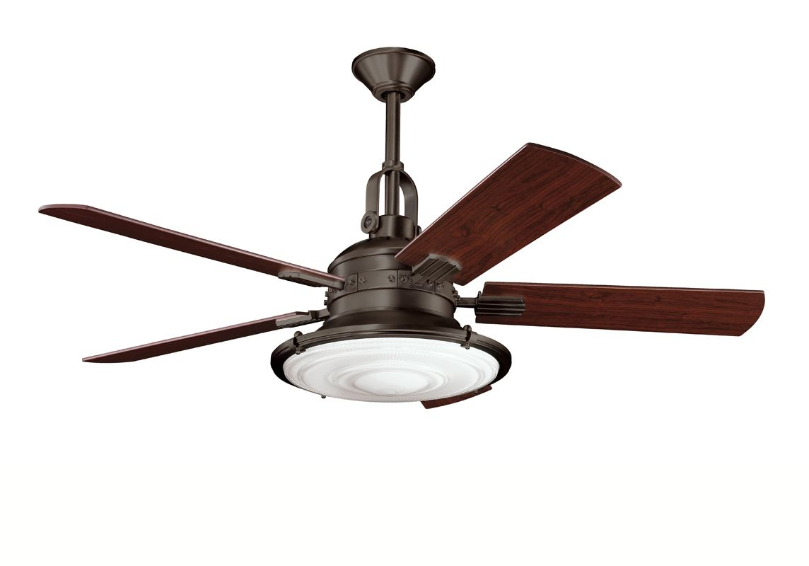 "Kichler 300020OZ Olde Bronze 52"" Indoor Ceiling Fan with Blades, Light ..."