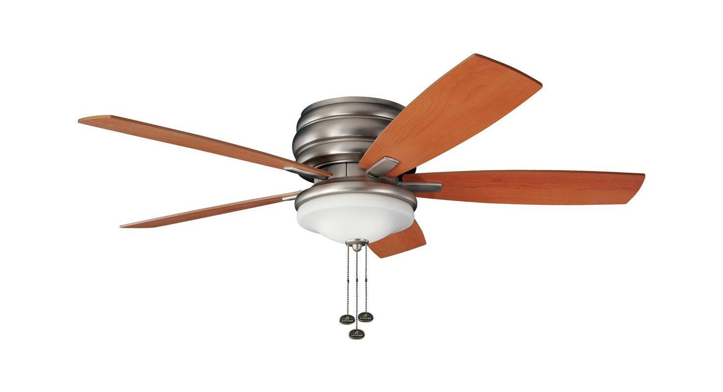 "Kichler 45629pn Stelata Contemporary Polished Nickel 3: Kichler 300119NI Brushed Nickel 52"" Outdoor Ceiling Fan"
