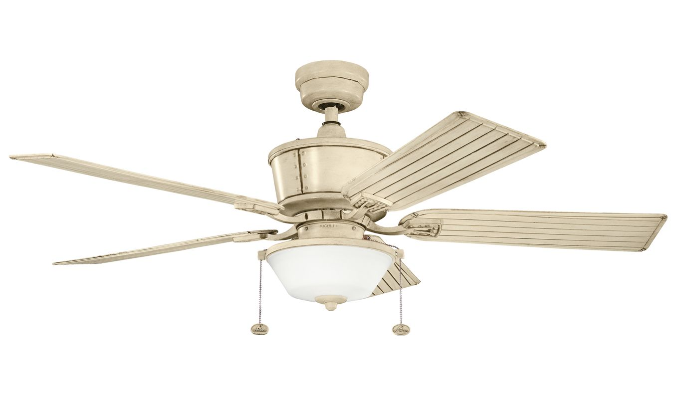 Auto Ceiling Fan : Kichler aw aged white quot outdoor ceiling fan with