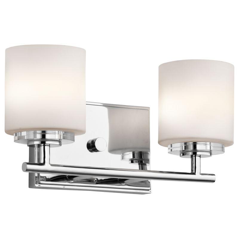 "13 Dreamy Bathroom Lighting Ideas: Kichler 45501CH Chrome O Hara 13"" Wide 2 Bathroom Light"