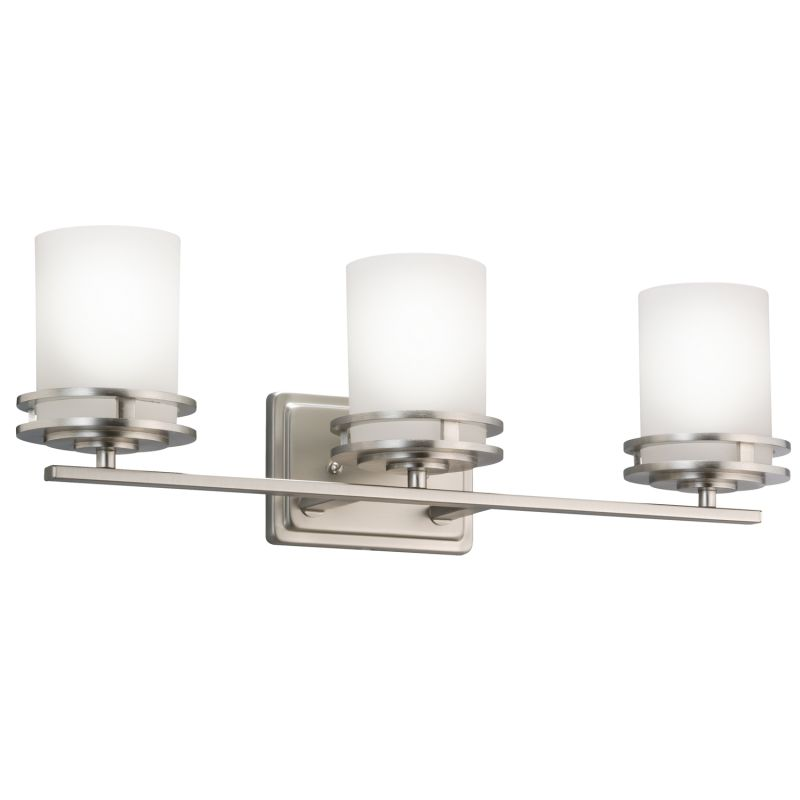 Vanity Light Glass Globes : Kichler 5078NI Brushed Nickel Hendrik 3 Light 24
