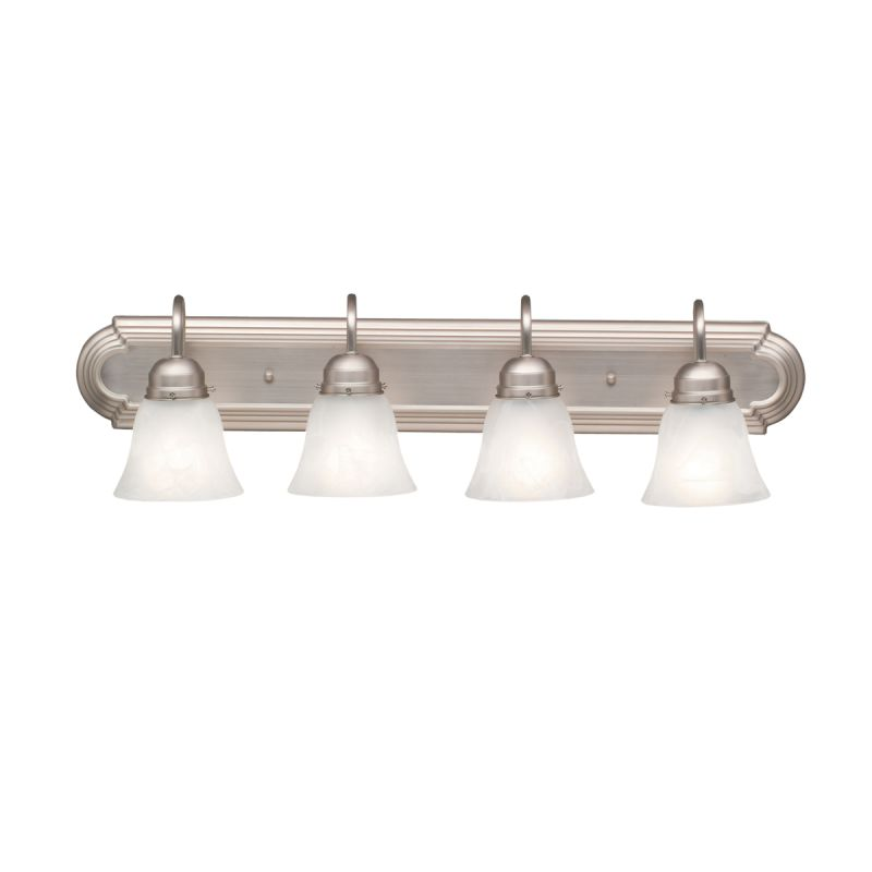 kichler bathroom light fixtures kichler 5338ni brushed nickel 4 light 30 quot wide vanity 18958