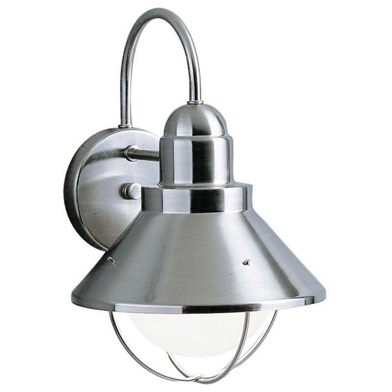 Wall Sconces For Damp Locations : Kichler 9022NI Brushed Nickel Seaside Single Light 12
