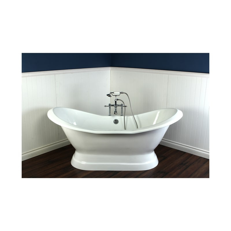 Faucet Com Vct7d723130 In White By Kingston Brass