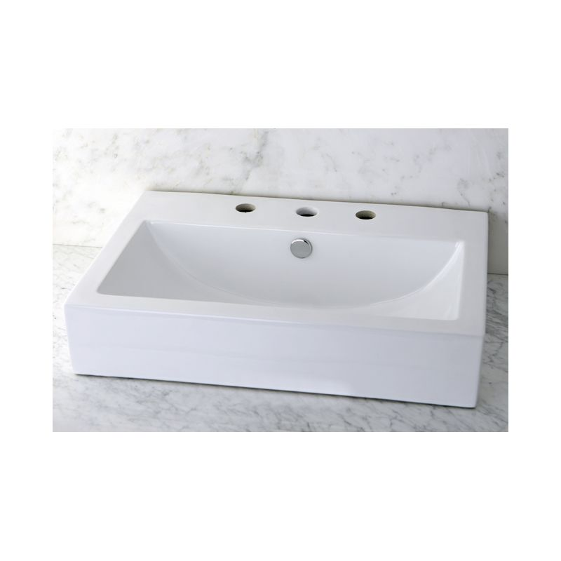 Faucet Com Ev4318w38 In White By Kingston Brass