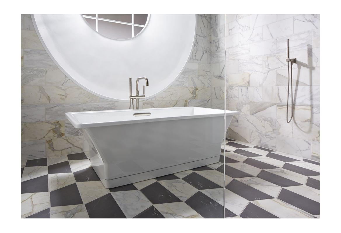 Faucetcom KF In White By Kohler - Kohler cast iron freestanding tub
